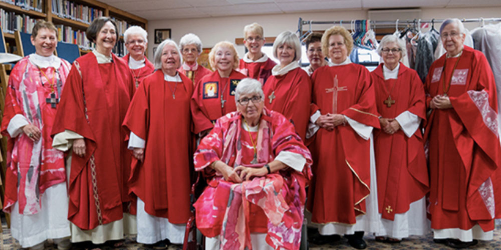Roman Catholic Womenbishops meet in Aptos, California October 1, 2017 for the ordination of Jane Via and Suzanne Thiel as Roman Catholic bishops