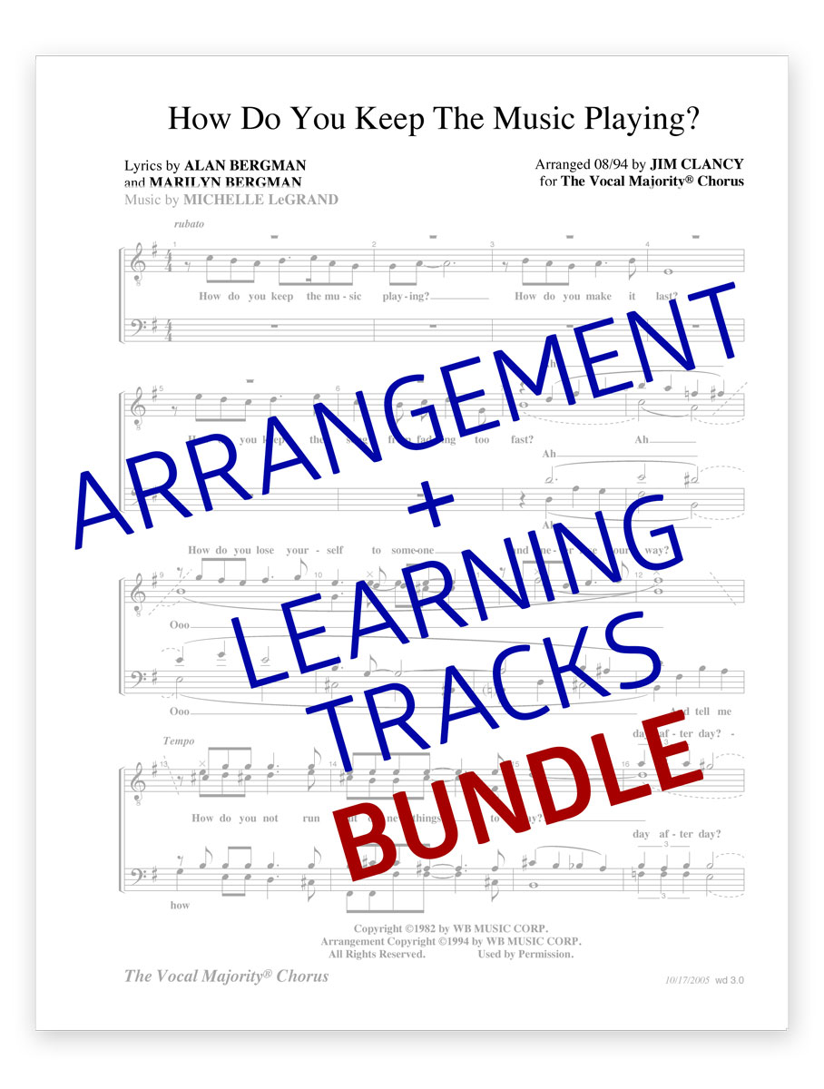 How Do You Keep the Music Playing — Men's Arrangement + Learning Tracks