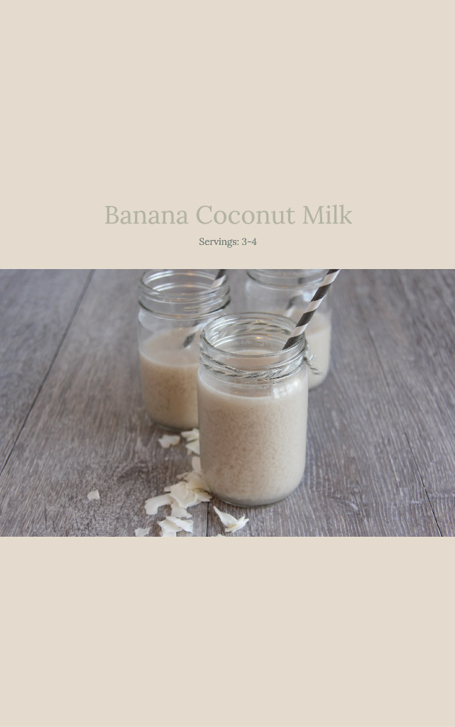 Banana Coconut Milk - Delicious Recipe for Banana Coconut Milk.(Showing Book Cover and link to book)