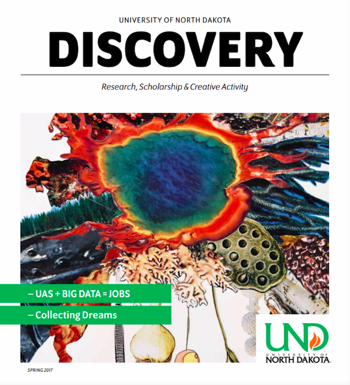 Publication Expertise - Spring 2017 issue of UND Discovery Magazine. Edited and produced by STEMflash Media
