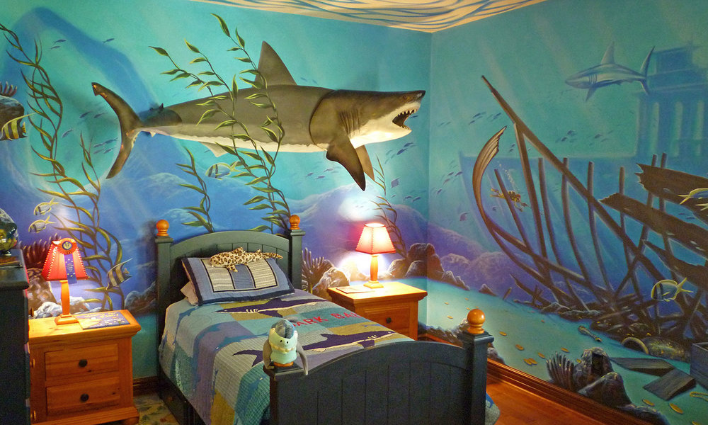 Panoramic Mural on location for Kids Room