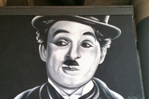 Charlie Chaplin Mural on Hollywood Mural Tour