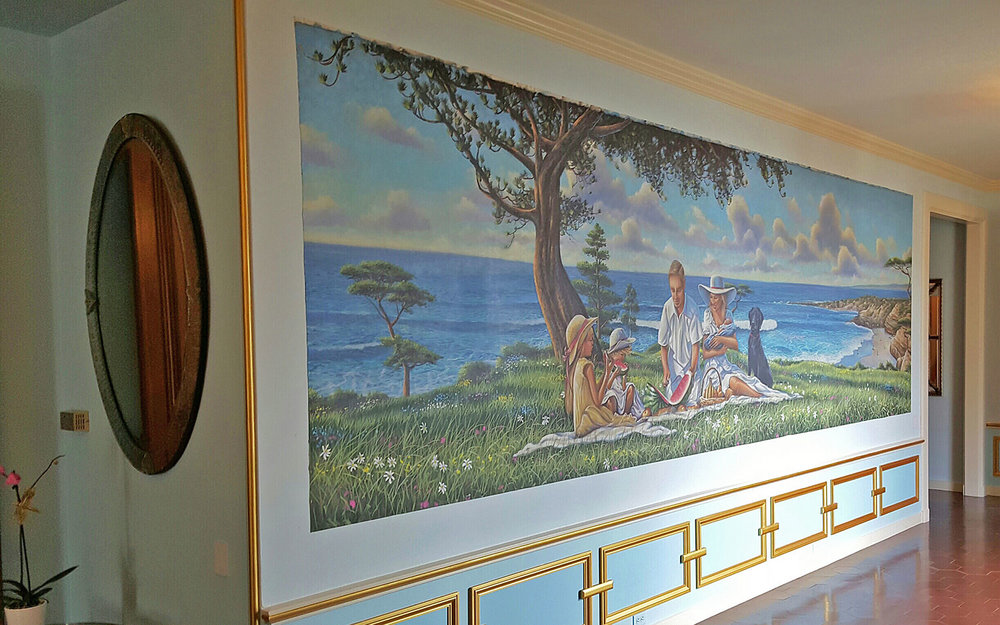 Mural on Canvas for Private Residence