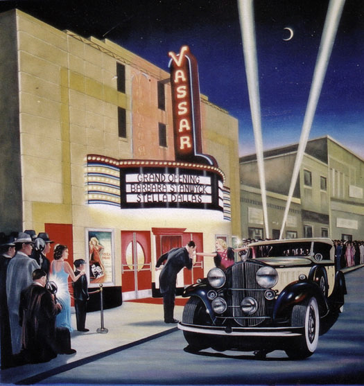Mural on location for Art Deco Theater