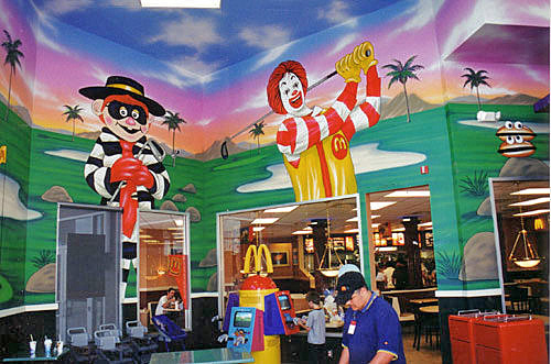 Mural on location in McDonald's Playplace