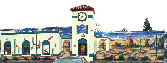 Exterior Mural on location for Fast Food Chain