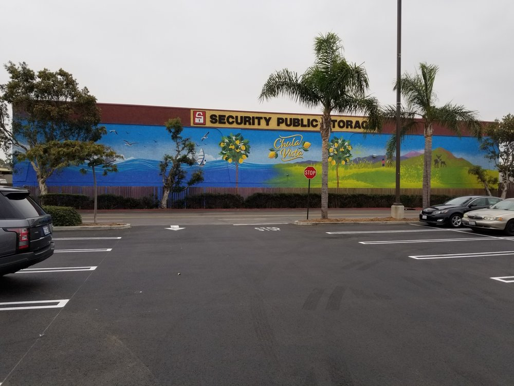 Exterior mural for Security Public Storage in Chula Vista