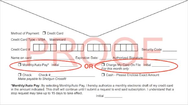 Shotgun Payment Envelope