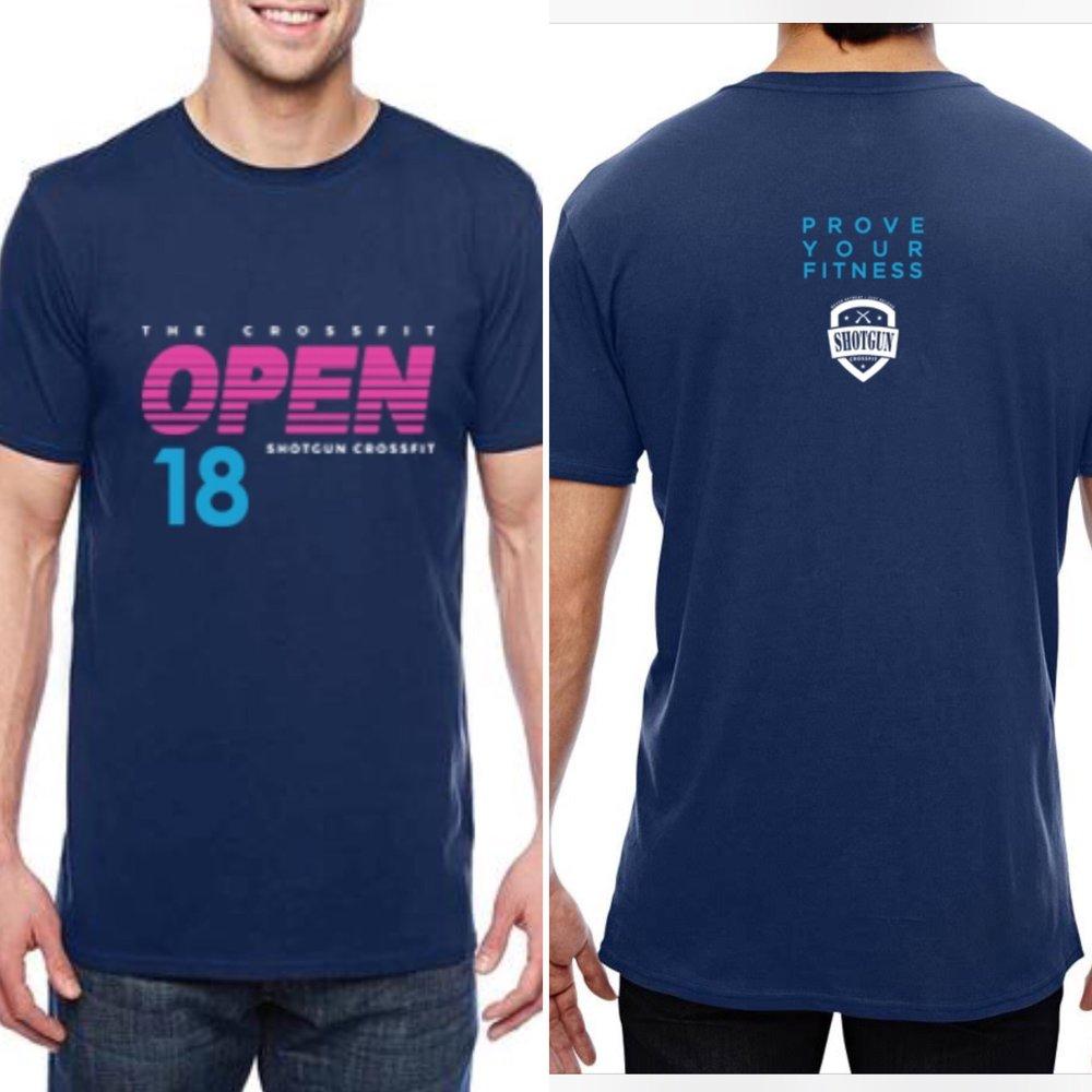 Shotgun CrossFit's 2018 OPEN T-shirt