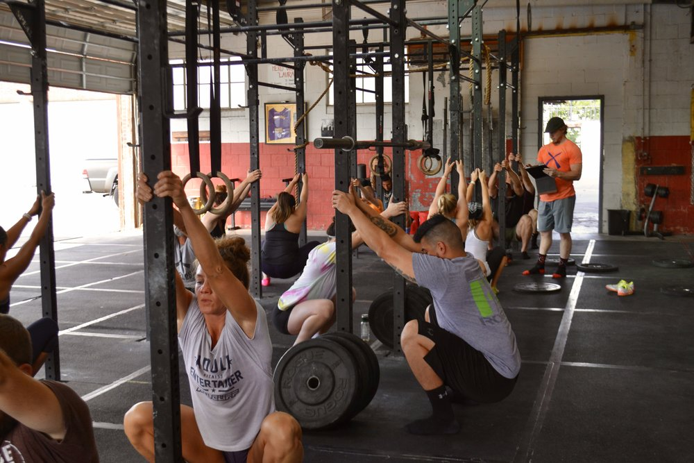 Supported squats - Vaughn Weightlifting Clinic