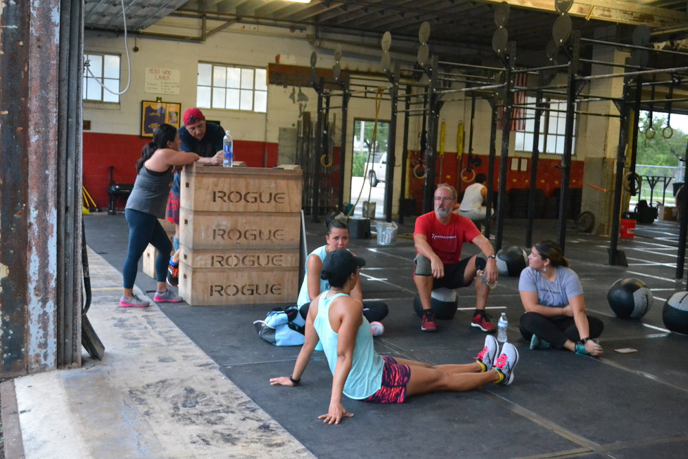 Saturday mornings post-WOD @ Shotgun CrossFit.  It doesn't get much better.