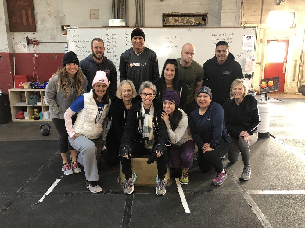 8:30 am crew Janice's 10 Year CrossFit Anniversary WOD