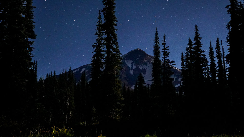 My best friend came to hike with us for a few days in Mt. Adams Wilderness and taught me how to take photos of starry skies. This was one of our last nights on trail.