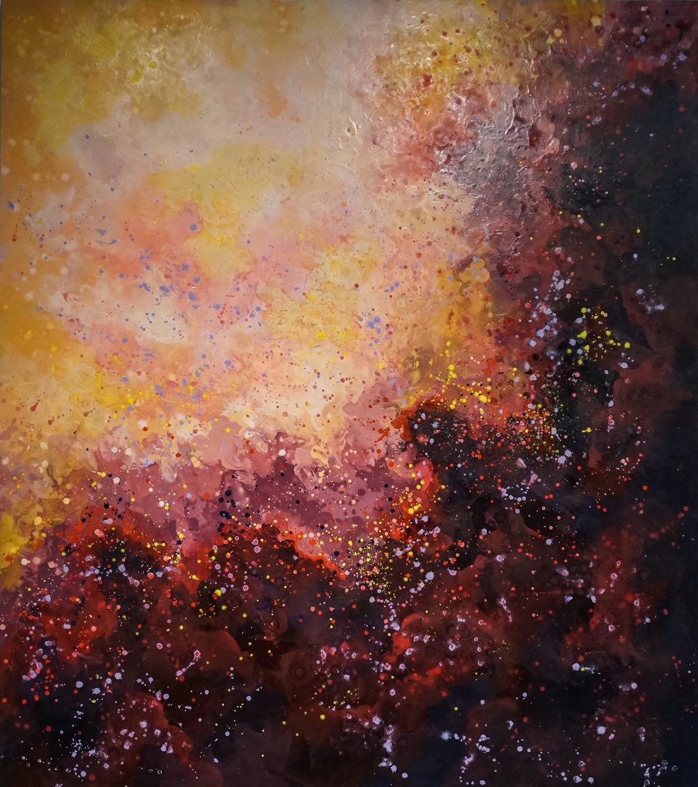 Super Nova , 2016  Oil on canvas  72 in x 65 in