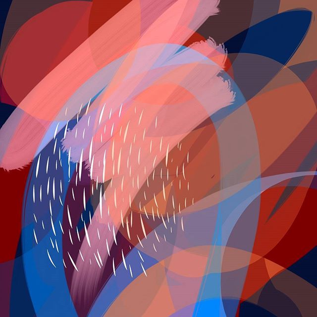 👾 . . . . #dailydoodle #digitalpainting #digitalart #colorstudy #procreate #abstractart