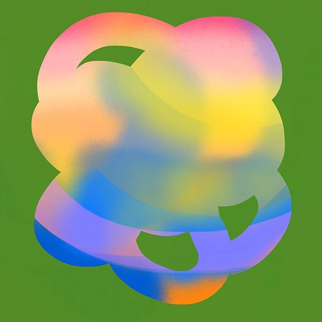 🌈 . . . . #sketchoftheday #dailydoodle #abstractart #design #digitalpainting #procreate