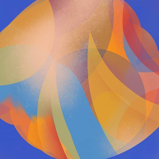 ❄️❄️ . . . . #colourstudy #abstractart #procreate #dailydoodle #sketchoftheday #wip #artistsoninstagram