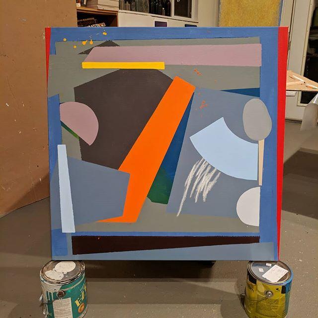 👀 #geometricart #abstractpainting #colorstudy #studio