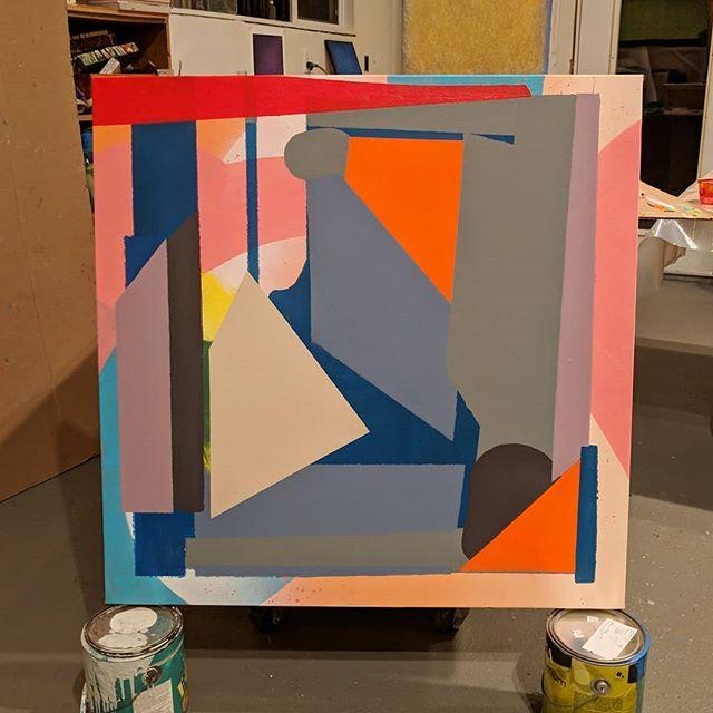 ⏹️ #abstract #geometricart #painting