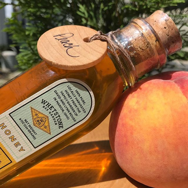 What a peachy idea! Peach infused honey🍑