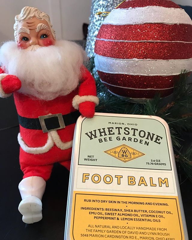A Santa approved remedy for weary shoppers. All of our products and honey are available online at whetstonebeegarden.com🎅🏼🐝#honey #shoppingonline #allnatural #naturalskincare