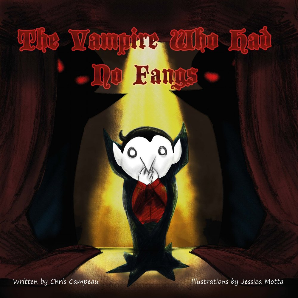 Georgie Tombstone is a normal vampire.Well, almost. - The Vampire Who Had No Fangsis a children's picture book in which a seemingly disadvantaged vampire discovers what really sets him apart.Buy it on Amazon.