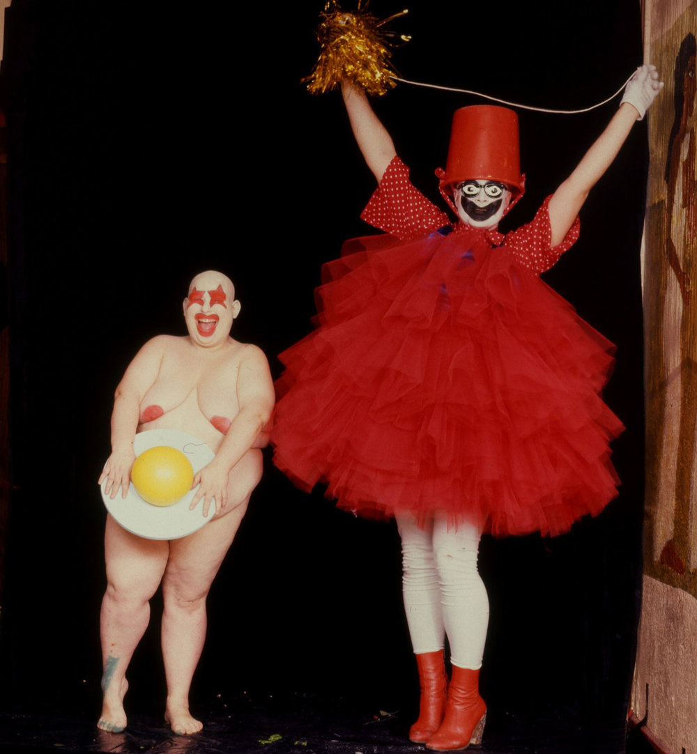 Fat Gill and Leigh Bowery in 1986 Photograph: Robyn Beeche