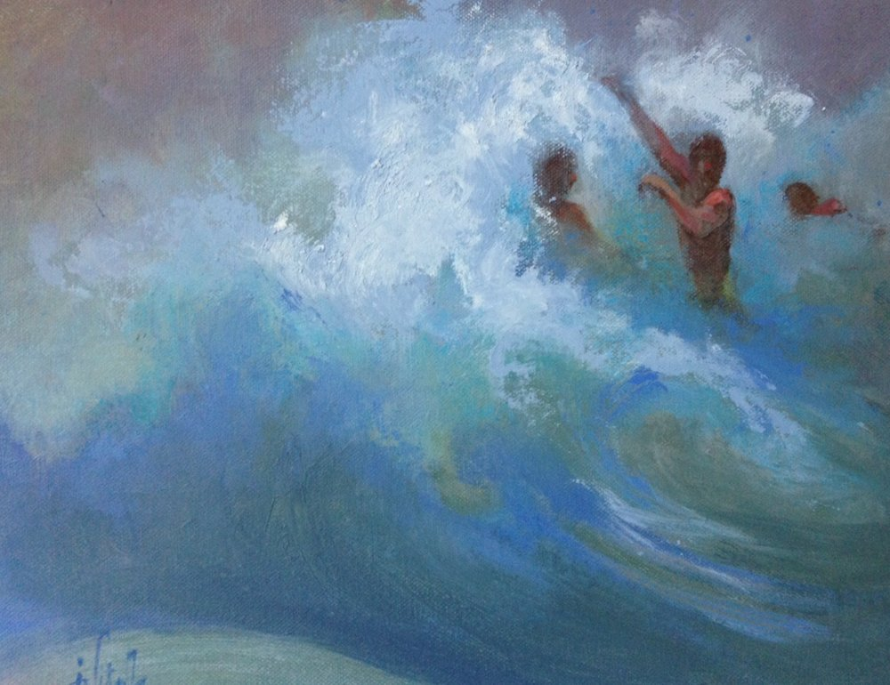 Rough Surf , oil on canvas,