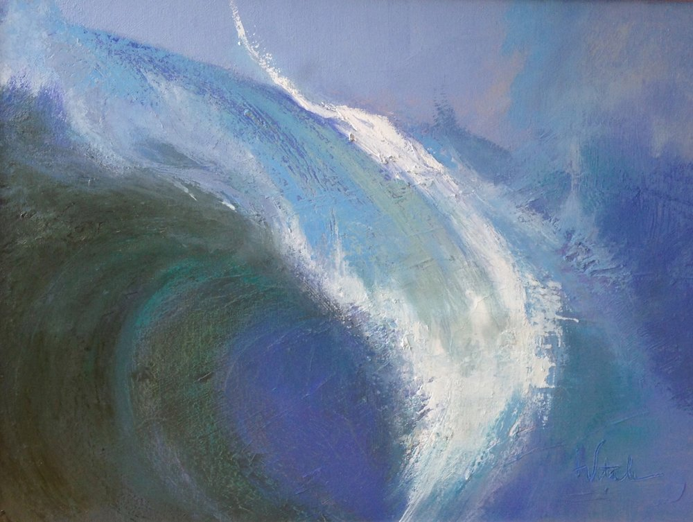 Wave , oil on canvas, 16 x 20""
