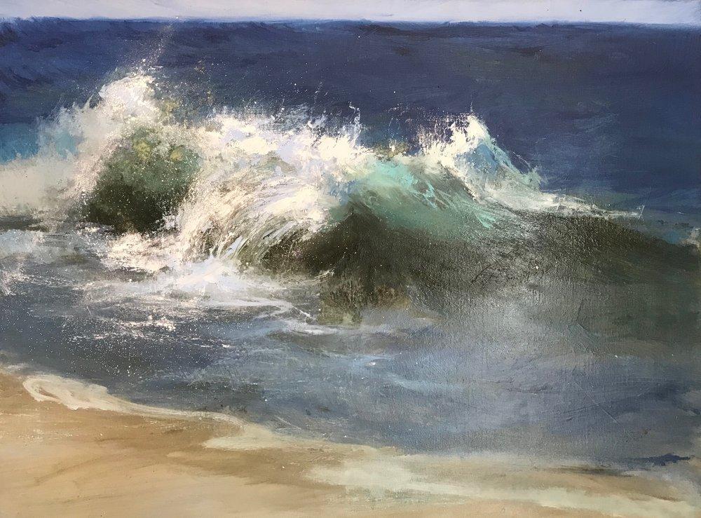 "Seascape , oil on linen, 18 x 24"""