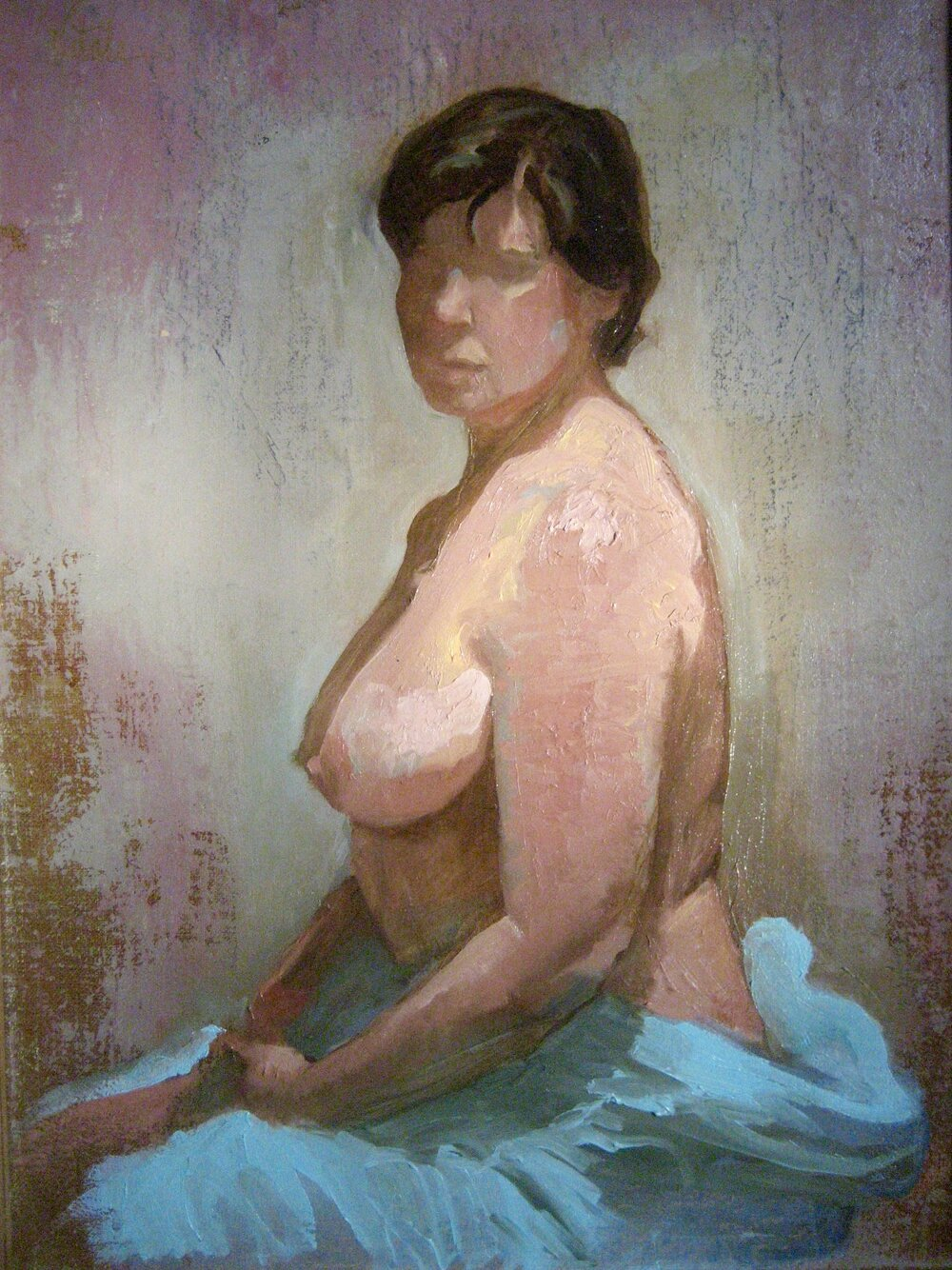 Blue Robe , oil on linen