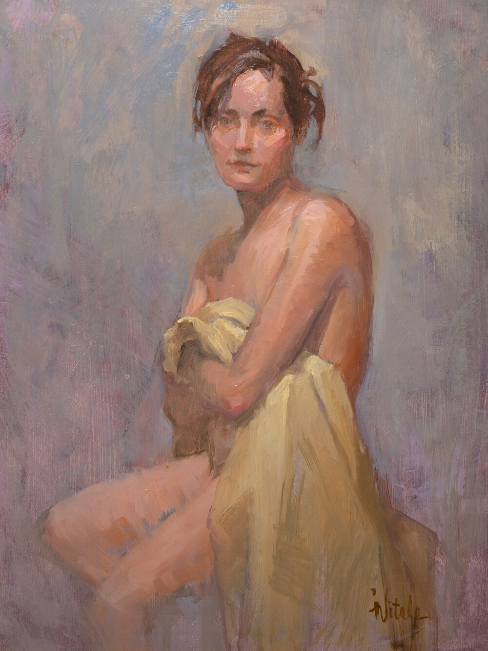 Love Yourself , oil on masonite, 15 x 19""