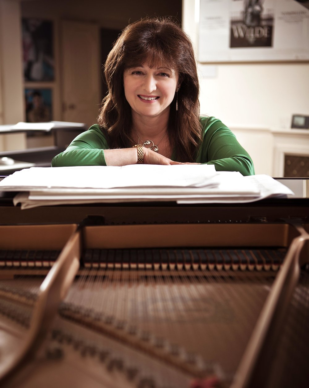 DEBBIE WISEMAN MBE : music composer Throughout the past 20 years, there are probably few people in the UK who have not heard a theme from one of Debbie's films or television productions. Whether it is watching Stephen Fry bring to life Oscar WILDE for the big screen, hearing the latest political commentary on a Sunday morning with Andrew Marr, or revelling in the Tudor world of Thomas Cromwell in WOLF HALL, Wiseman has gifted us iconic themes of beauty and passion, love and laughter. Her credits, over 200 of them, for the big and small screen, include WOLF HALL, JUDGE JOHN DEED, WILDE, HAUNTED, OTHELLO, TOM & VIV, JEKYLL, THE INSPECTOR LYNLEY MYSTERIES, THE PASSION, THE GUILTY, BEFORE YOU GO, ARSENE LUPIN,  TOM'S MIDNIGHT GARDEN, LOST CHRISTMAS,  THE PROMISE, A POET IN NEW YORK, THE ANDREW MARR SHOW,  THE CORONER and EDIE director Simon Hunter's first feature LIGHTHOUSE.  Debbie is a Visiting Professor at the Royal College of Music and is Classic FM's composer in residence. Some of Debbie's work can be heard on her website HERE.
