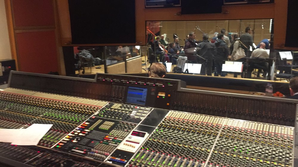 Music recording at Angel studios  in Islington, London