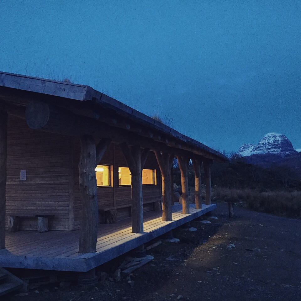 The EDIE production office overlooking Suilven
