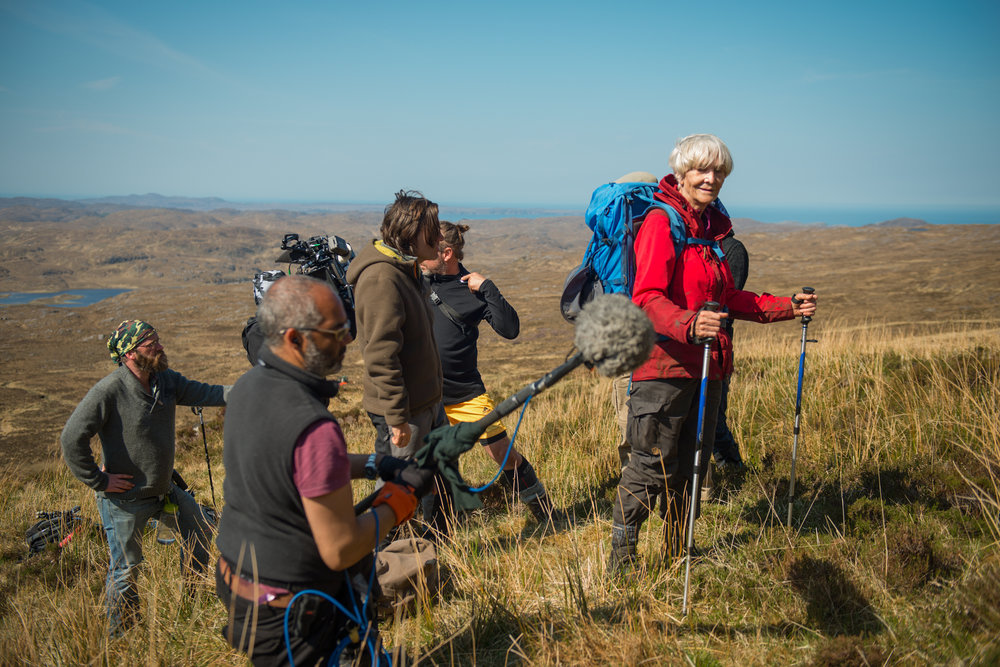 Sheila Hancock prepares for a take on the moors in Sutherland, Scotland