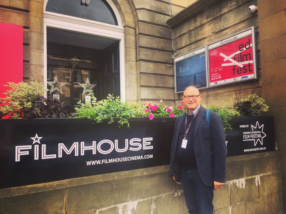 Producer Mark Stothert at the Edinburgh International film festival screening of EDIE where the movie sold out almost immidiatley and played to packed cinemas.