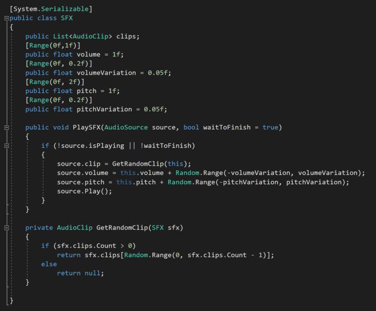SFX options code.