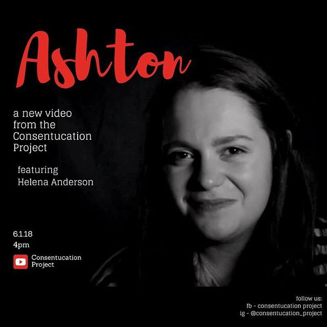 "Tomorrow's a new month, AND a new video! • 🎥 ""Ashton"" featuring Helena Anderson (@themagicllama95) . 📆 6.1.18 ⏰ 4:00 pm EST . 📍 consentucationproject.com and the Consentucation Project YouTube channel. • And if you haven't seen last week's video, the link is still in our bio! Check it out to support consent, education, and the acceptance of boundaries. • #consentucationproject #tohealandeducate . #endsexualassault #endsexualviolence #metoo #endrapeculture #womenbehindthecamera #womenbehindthelens #femaledirector #femalefilmmakerfriday #director #directorofphotography #activism #internationalwomensday #behindthescenes #sneakpeek #onset #setlife🎥  #consentissexy  #communication #education #survivor #ptsd #sexualassaultsurvivor #originalwriting #writersofinstagram"