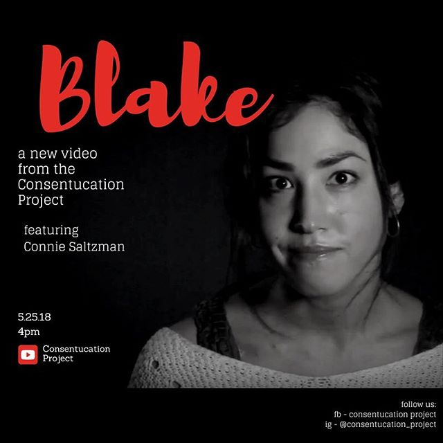 "WE'RE BACK and so excited to be bringing you these truthful, beautiful, and vulnerable stories from survivors about consent, body autonomy, pain, and moving forward. • Our new video is a powerful one, and it's going live this Friday! • 🎥 ""Blake"" featuring @connie_saltz . 📆 5.25.18 ⏰ 4:00 pm EST . 📍 consentucationproject.com and the Consentucation Project YouTube channel (link in bio). • See you there. 😉 • #consentucationproject #tohealandeducate . #endsexualassault #endsexualviolence #metoo #endrapeculture #womenbehindthecamera #womenbehindthelens #femaledirector #femalefilmmakerfriday #director #directorofphotography #activism #internationalwomensday #behindthescenes #sneakpeek #onset #setlife🎥  #consentissexy  #communication #education #survivor #ptsd #sexualassaultsurvivor #originalwriting #writersofinstagram"