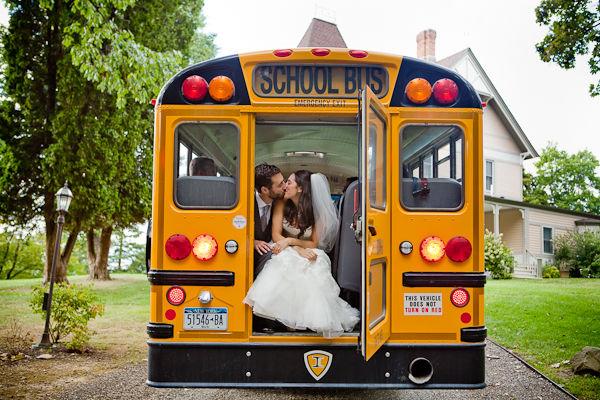 School buses for weddings