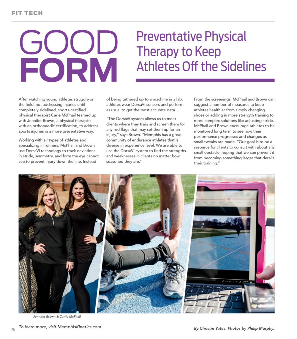 Article from Memphis Health + Fitness Magazine