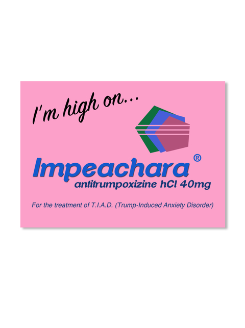 IMPEACHARA® STICKER - pink (benefits Planned Parenthood)