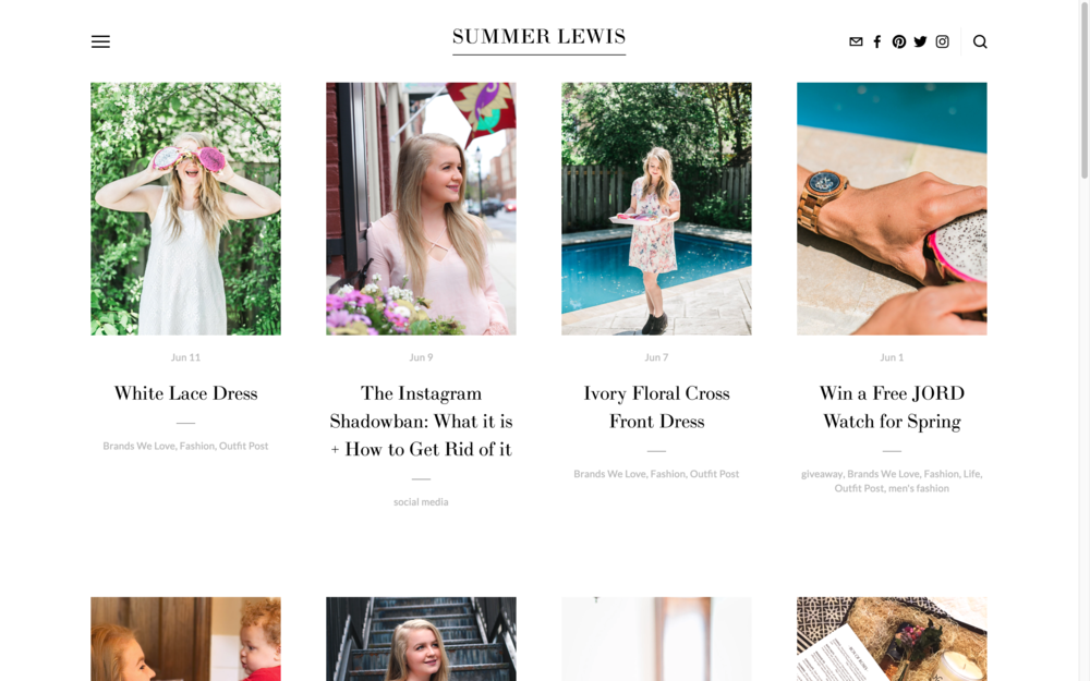 www.beingsummerlewis.com  - through growing my blog, I'm able to grow my Instagram!