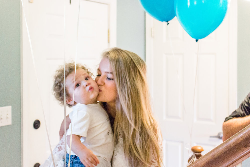 Birthday kisses for the birthday boy!