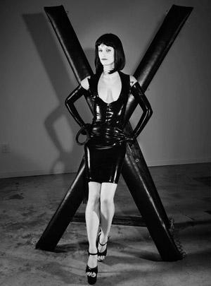 Victoria in black.