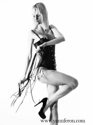 Mistress Victoria in a playful mode.