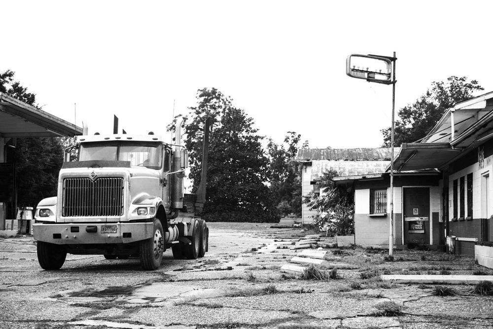Abandoned Motel Truck