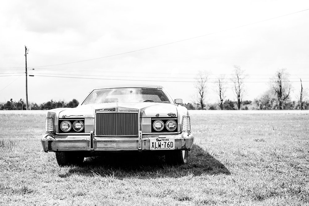 Seventies Lincoln Contintental, Marfa, Texas, TX, United States by Leica Photographer Manuel Guerzoni in San Francisco