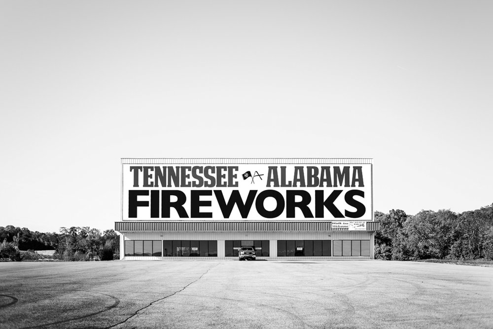 Fireworks Store, Tennessee Alabama Fireworks, South Pittsburg, Tennessee, TN, United States by Leica Photographer Manuel Guerzoni